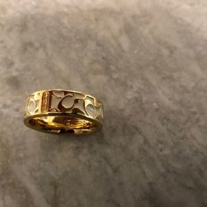 Authentic Coach ring, size 7